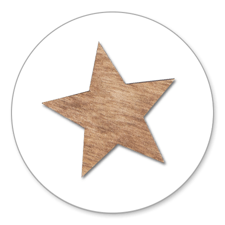 Sluitzegel ster hout 2