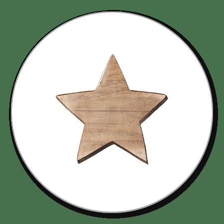 Sluitzegel ster hout