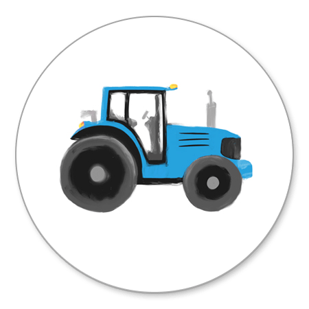 Sluitzegel tractor blauw