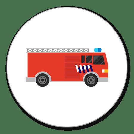 Sluitzegel brandweerauto