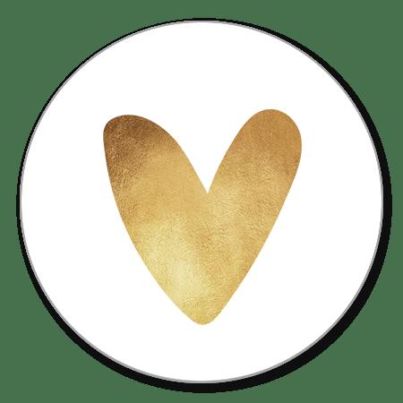 Sluitzegel hartje goud fel
