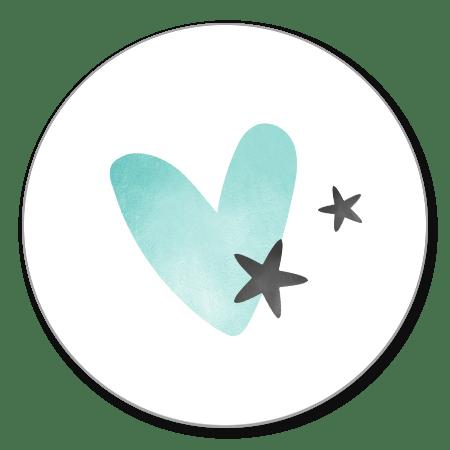 Sluitzegel hartje sterren
