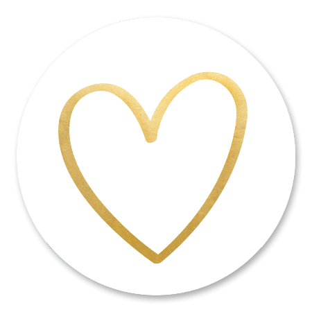 Gouden open hart  - fotocollage