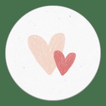 Sluitzegel hartjes roze krijt