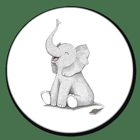 Sluitzegel olifantje