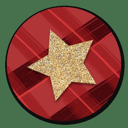 Sluitzegel ruitje rood ster