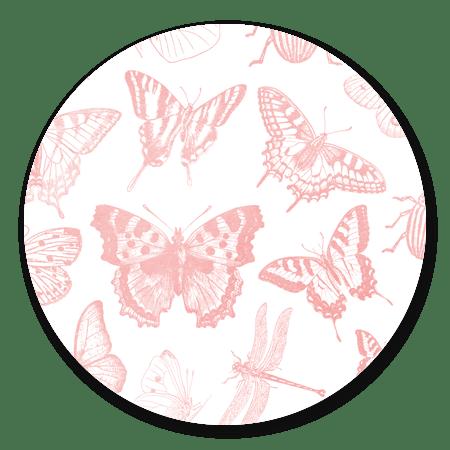 Vlinder patroon roze