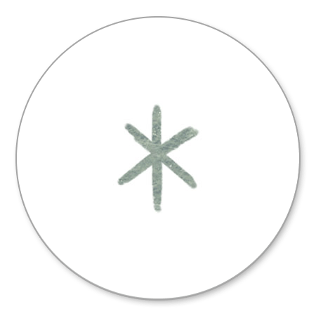 Zilveren ster wit