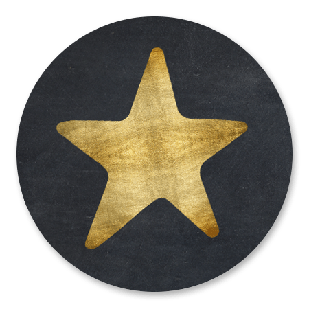 Ster Goud - op Zwart