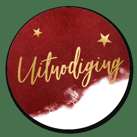 Uitnodiging Kerst - Rood