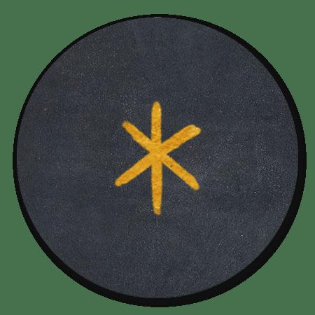 Gouden ster krijtbord