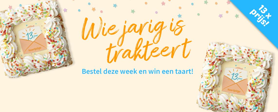 Bestel deze week en win een taart!