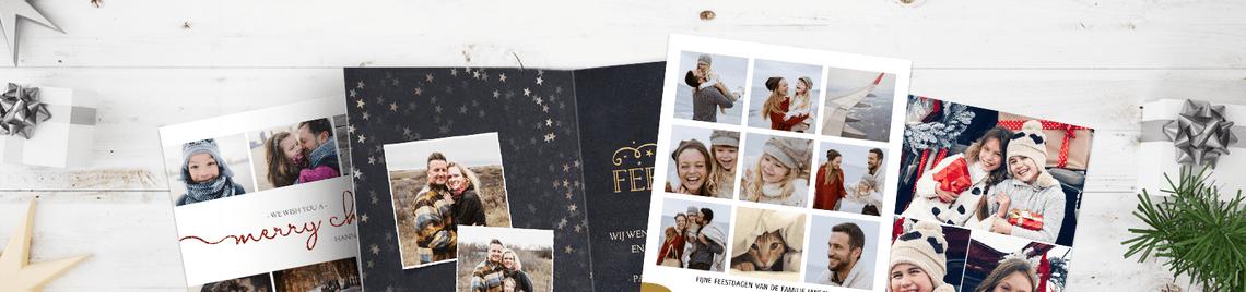 Kerstkaarten met fotocollage - 2018 kerstkaarten trends