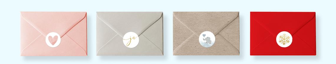 sluitzegel voorbeeld op envelop