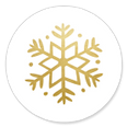 Sluitzegel gouden sneeuwvlok