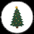 sluitsticker kerstboom