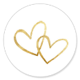 Sluitzegel trouwen twee hartjes