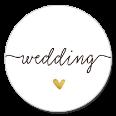 Sluitzegel wedding met gouden hartje