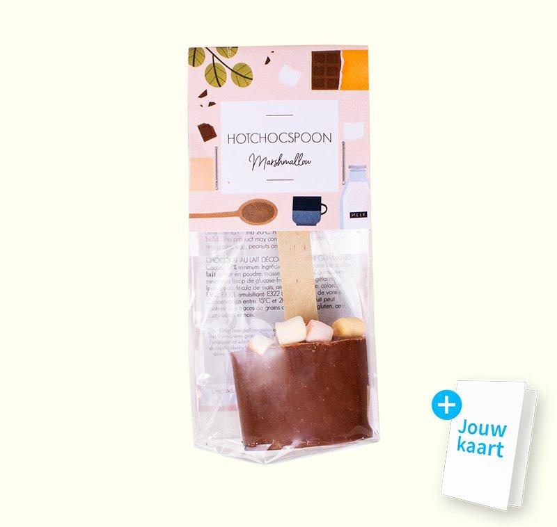 Chocolate spoon marshmallow