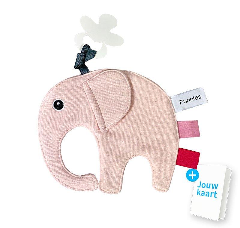 Speendoek olifant roze