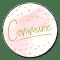 Sluitzegel communie roze
