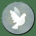 Sluitzegel duifje groen