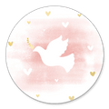 Sluitsticker duifje roze