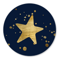 Sluitsticker ster goud spetters