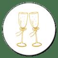 Sluitsticker champagne goud