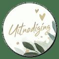Sluitsticker jubileum uitnodiging botanisch