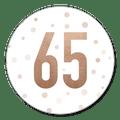 Sluitzegel uitnodiging 65 jaar koper