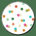 Sluitzegel confetti kleur