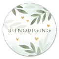 Sluitzegel uitnodiging botanisch
