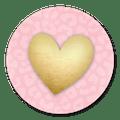 Sluitsticker panterprint hart
