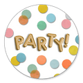 Sluitsticker party confetti