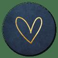 Sluitzegel blauw hartje