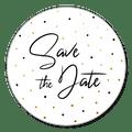 Sluitsticker save the date confetti