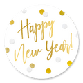 Sluitzegel happy new year confetti