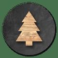 sluitsticker houten kerstboom