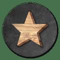 sluitsticker houten ster