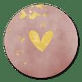 sluitzegel hartje op roze