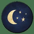 sluitsticker maan blauw