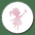 Sluitzegel silhouet meisje