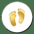 voetjes goud