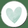 Sluitzegel groen hartje