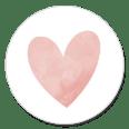 Sluitsticker roze hartje meisje