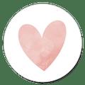 Sluitsticker hartje roze