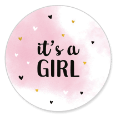 Sluitsticker it's a girl meisje