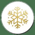 sluitsticker sneeuwvlok goud