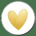 Sluitsticker jubileum hartje goud